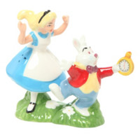 Disney Alice In Wonderland Alice And White Rabbit Salt & Pepper Shakers