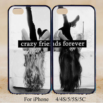 Crazy Friends Forever ,Double Case,iPhone 5s Case iPhone 5c case iPhone 5 case, iPhone 4 Cases iPhone 4s Cases,Galaxy S3,S4,S5,Couple Csae