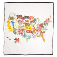 Painted States Scarf - accessories - Women's NEW ARRIVALS - Madewell