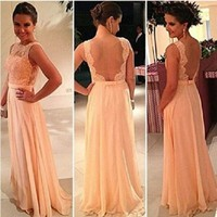 Leshery New Ladies Vintage Lace Long Maxi Evening Formal Cocktail Party Dresses