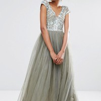 A Star Is Born | A Star Is Born Prom Embellished Tulle Maxi Dress at ASOS
