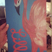 Lilly Pulitzer Flamingo Painting 10X20