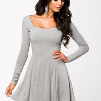 Long Sleeve Jersey Dress, Club L Essentials