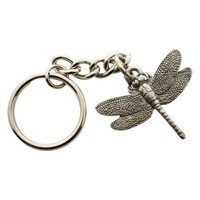 Dragonfly Keychain ~ Antiqued Pewter ~ Keychain