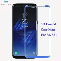 LEPHEE For Samsung S8 Screen Protector Galaxy S8 Plus Glass Tempered 3D Curved Not Full Cover for Samsung S8 S 8 Plus Case Mate