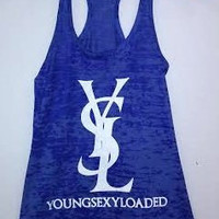 Burnout Racerback Tank - Young Sexy Loaded
