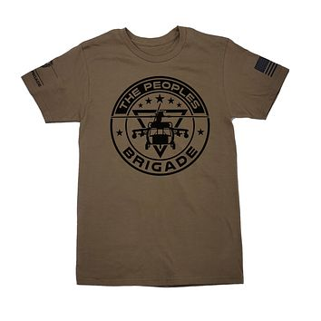 The Peoples Brigade Signature Round Helo T-Shirt