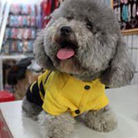 Lovely Fleece Dog Jackets Bumble Bee Wings Fashion Dog Cat Pet Costume Clothes Coat