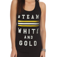 Team White And Gold Girls Tank Top