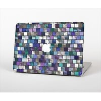 """The Mosaic Purple and Green Vivid Tiles V4 Skin Set for the Apple MacBook Pro 15"""""""