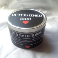 DETERMINED SOUL: Undertale inspired candle