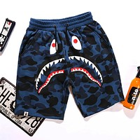 AAPE BAPE Summer Classic Hot Sale Men Women Camouflage Casual Running Sport Shorts Blue