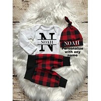 Personalized Name Baby Boy Coming Home Outfit