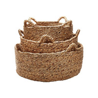 Natural Hyacinth Low Rise Basket