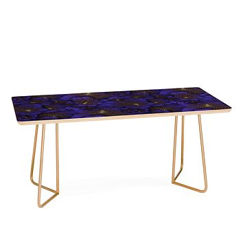 Bel Lefosse Design Electric Blue Orchid Coffee Table