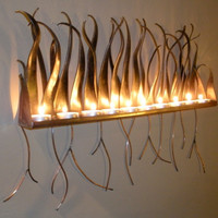 Metal Candle Holder - Wall Sconce For Candles Or Tea Lights