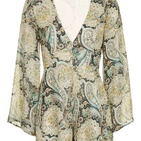 **Lead The Way Paisley Printed Playsuit by WYLR - New In This Week - New In