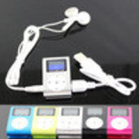 2014 Hot Sale portable LCD Screen Metal Mini Clip-on MP3 Player with Micro TF/SD card Slot with Cable +Earphone Freeshipping - Default