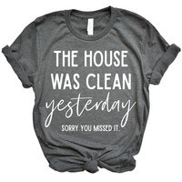 Sorry You Missed It Tee - Heathered Gray