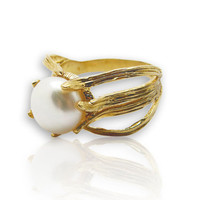 Pearl Ring | gold filled ring | june birthstone everyday ring