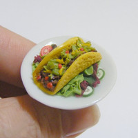 Scented or Unscented Beef Taco Miniature Food Ring - Miniature Food Jewelry