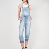 Light Washed Denim Overalls