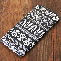 Classic Black and White Tribal Ethnic Pattern iPhone 6s Case/Plus/5S/5C/5/4S Protective Case #703