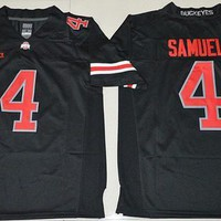 New Style 4 Curtis Samuel Jersey Ohio State Buckeyes College Curtis Samuel Football Jerseys Alternate Black White Red Stitched And Embroider