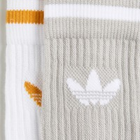 adidas Originals 2 Pack Gray and Yellow Crew Socks at asos.com