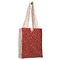 Book Bag - Thick - Red/White