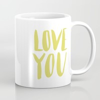 love you - green lettering Mug by Allyson Johnson | Society6