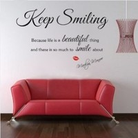 Sexy Lady MARILYN MONROE Quote Wall Sticker Art Decal Home Decor Vinyl Mural:Amazon:Home & Kitchen
