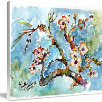 """Blossoming Almond Tree Watercolor by Ginette"" by Ginette Callaway"