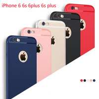 Fashion luxury full cover Soft TPU case for iphone 6 6s 7 4.7 inch plus 5.5 inch that Ultra-thin Matte case Phone Silicone shell