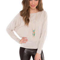 Midnight Memories Top - Taupe