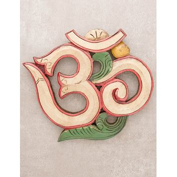 Carved Om Wall Hanging