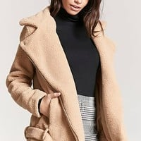 Belted Faux Shearling Coat