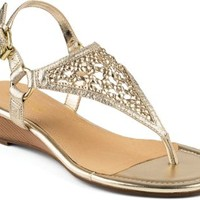 Sperry Top-Sider Laina Demi Wedge Sandal PlatinumLeather, Size 5.5M  Women's Shoes