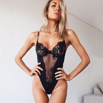 Women's Fashion Hot Sale Summer Hollow Out Sexy Lace One-piece [1303949246580]