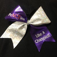 Practice Like a Champion : GLITZ Cheer BowZ, Custom Products From Your Head To Your Toes