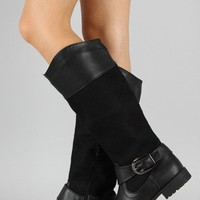 NB200-13 Buckle Riding Knee High Boot