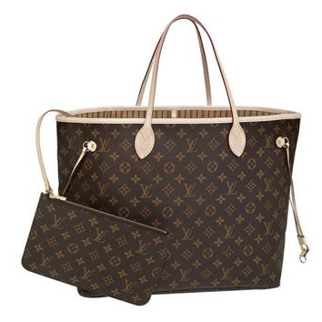 "Louis Vuitton Brown Monogram Coated Canvas ""Neverfull GM"" Tote Bag"