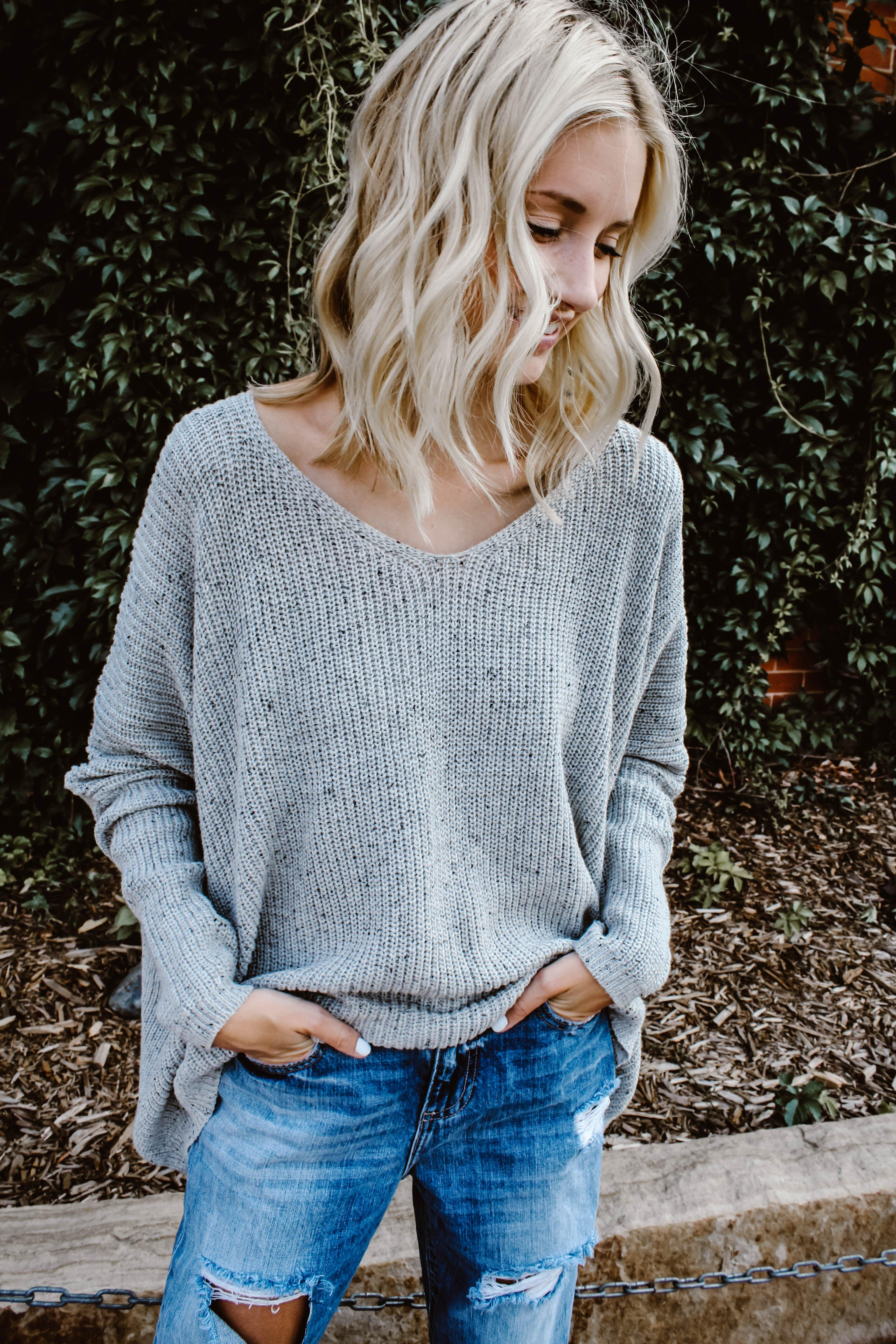 Image of Summer Slouch Grey Sweater