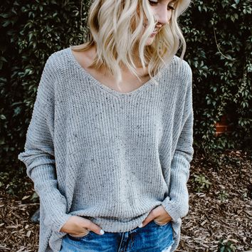 Summer Slouch Grey Sweater