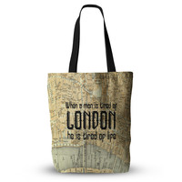 """Alison Coxon """"London Type"""" Map Everything Tote Bag"""
