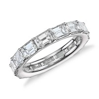 Emerald-Cut Diamond Eternity Ring in 18K White Gold (4.15 ct.tw) | Blue Nile