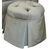Angel Song 224820156 Aspen Silver Adult Park Avenue Round Ottoman