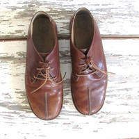 Vintage brown leather Rockport shoes / women's lace ups 7.5