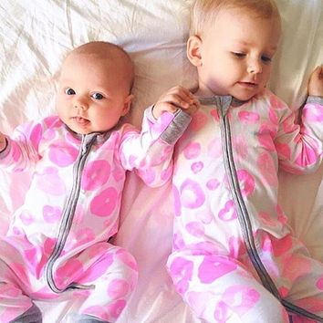 Zipper Romper Spring kids baby clothes newborn baby boy girl clothes baby suit