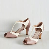 Vintage Inspired Going to Gait Lengths Heel in Mauve
